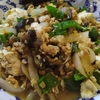 万願寺と茄子と玉ねぎと納豆の炒め物 麻婆豆腐風