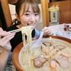 的場絢香さんが『元気屋』のすり鉢ラーメンを、、、完食∑(・д・ノ)ノ(一部誇張あり)