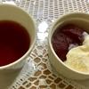 【料理】りんごの赤ワインコンポート バニラアイス添え