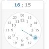 ClockPicker で分の選択を15分区切りに限定する