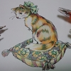 ボールペンで猫ページを塗ってみた☆