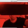 python カメラ画像から赤色成分だけ表示