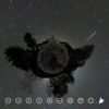 360度ビューの 満天の星空 と 流れ星がみえる! #360pic
