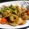 魚介と野菜のペペロンチーノ風、三元豚ロースの西京焼きなど(居酒屋)
