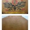 背中の濃いタトゥー