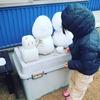 雪だるまを作る_4歳9ヵ月