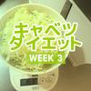 【キャベツダイエットレポート3週目】食欲減った?1日350gのキャベツが苦痛だが慣れてきた。