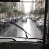 高速バスでサンティアゴ・デ・コンポステーラ空港へ戻る