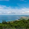 サロマ湖を一望できる展望台からの眺め。