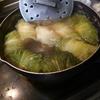 幸運な病のレシピ( 852 )夜:ロール白菜、鶏皮のパリッと焼き