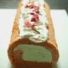 苺と桜のロールケーキのレシピ!