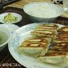 ●与野「餃子の満洲」のダブル餃子定食