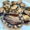 貝の口開け。アワビ&ナガレコ(とこぶし)頂きました♬