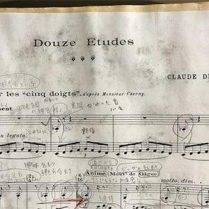 チェルニー風ドビュッシーの練習曲に再チャレンジしています。