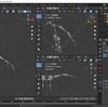 Blender2.8でIK(インバースキネマティクス)を使った人型アーマチュアを作成する その5(腕のIK設定 前半)