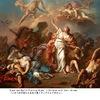アポローン(6)/ニオベー1    久しぶりのギリシャ神話.よく知られているアポローンの神話の一つ.  「 ニオベーが自慢話でレートーを怒らせたためかの女の子供たちを殺害」 よく知られたギリシャローマ神話原典で取り上げられ,また,後世の画家・彫刻家・音楽家たちの題材となっています.例えばダヴィッドの「ニオベの子供たちを矢で貫くディアナとアポロン」ニオベは,アポロンとディアナの矢から末娘を庇っています.手前には王妃の13人の子供たちが傷ついたり死んだりしています.