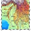 GMT ETOPO1で地形図作成