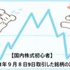 【国内株式初心者】2021年9月8日9日取引した銘柄の記録