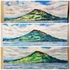 青と緑の桜島