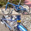 折りたたみ自転車 Amourを9sダブル化