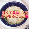 【簡単レシピ】とうもろこしの炊き込みご飯を作りました!