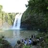 大河ドラマ『西郷どん』のオープニングに出てくるので。南大隅町にある『雄川の滝』です。