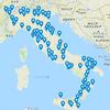 祝!イタリアで行った町が100カ所を超えました!
