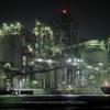 苅田工場夜景(2):夜に光る要塞都市と,闇に溶けるラスボス。
