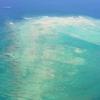 沖縄 風景動画 飛行機からの海
