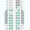 国内線JAL指定席制限・座席表(小さい機材編)