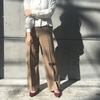 【AURALEE】SILK SUMMER TWEED WIDE SLACKS & SLIT SKIRT