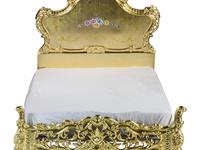 黄金に輝くロココ調ベッドは、なんとオール木製&手掘りだった!~ポンパレモール掘り出しモノ商店 Select.2~
