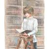 読書にふける