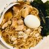 自作ラーメン スープは煮干し×昆布×鶏モモ肉
