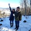 lien遠野の裏山冬山散歩