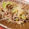 夕食:ブロッコリーの茎ともやしの野菜炒め