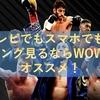 テレビでもスマホでも!ボクシング観るならWOWOWがオススメな理由4つ