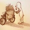 死んだじいちゃんを乗せて車いすでマラソン大会