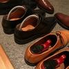 雨が多いので、革靴を磨き、さらに革スニーカー(スタンスミス)も綺麗にしました