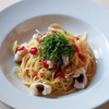 「ハモと梅肉のペペロンチーノ・スパゲティ」のご紹介