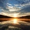 白駒池の夜明け