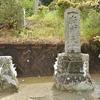 葦木神社 鳥居のそばにまつられている庚申塔 福岡県宗像市深田