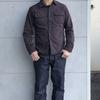 DELUXEWARE HV-01 定番のヒッコリーネルシャツより期間限定色ブラックヒッコリーが入荷しました(^^♪