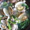 56冊目『きちんと小鍋』から3回目はあさりと小松菜の塩バター鍋