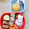 お月さまとウサギのお月見キャラ弁~冷凍食品を使わず可愛い幼稚園弁当~