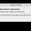 """Xamarin.iOS で IPA ファイルを作成するときに、""""Configuration Does't target Device"""" というエラーメッセージが出る"""