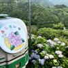 四国の山奥にある新宮村で、モノレールに乗って紫陽花見物