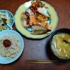 幸運な病のレシピ( 2361 )昼:ジャガイモのトマトソース、鮭、塩サバ