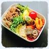 【お弁当】豚丼とちくわの磯辺揚げとかいろいろ弁当