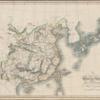 1808-1814  英国  アヘン戦争前の地図 尖閣無色 台湾黄色 八重山は琉球と共に青